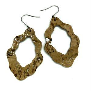Cork Scallop Earring